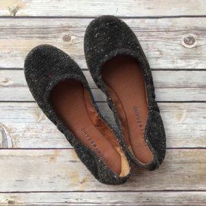 Lucky Brand Black Specked Knit Ballerina Flats 6